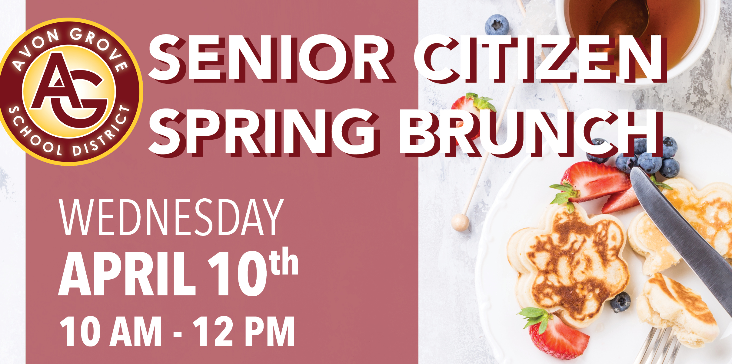 Top portion of Senior Citizen Brunch flyer