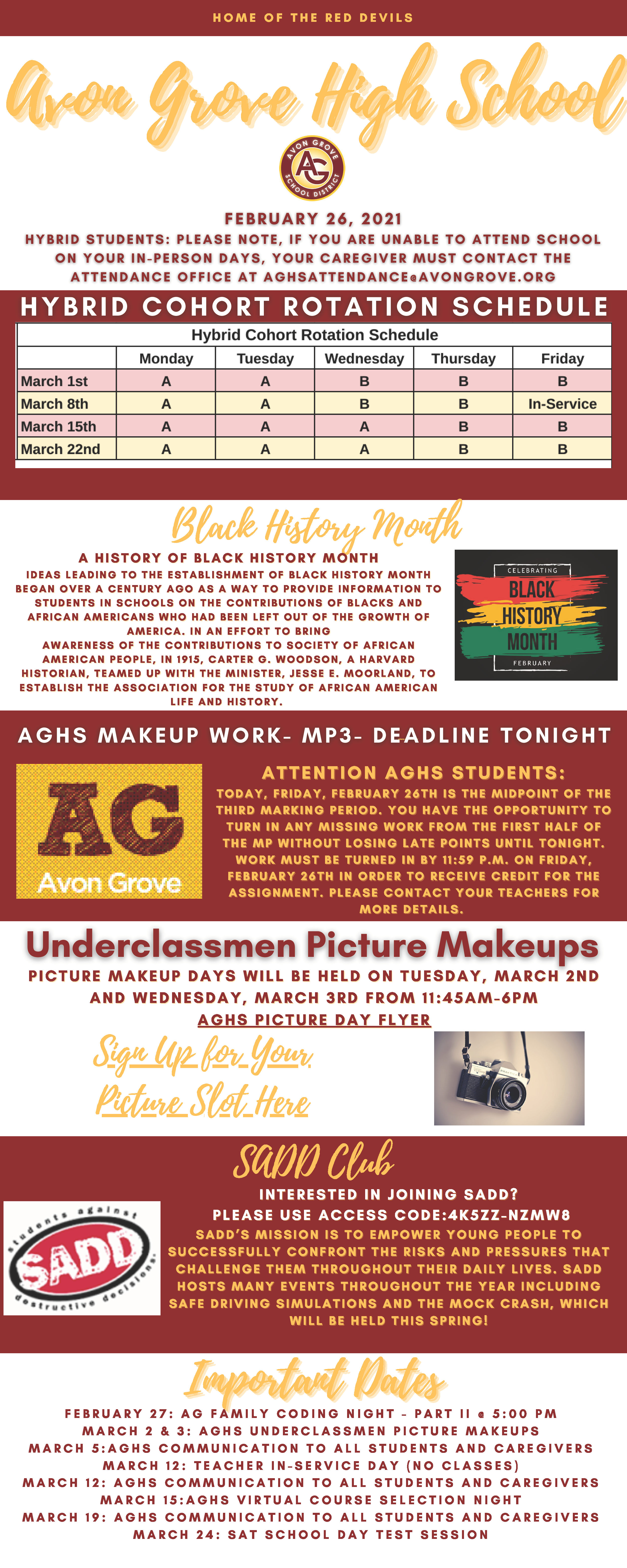 AGHS Weekly Newsletter