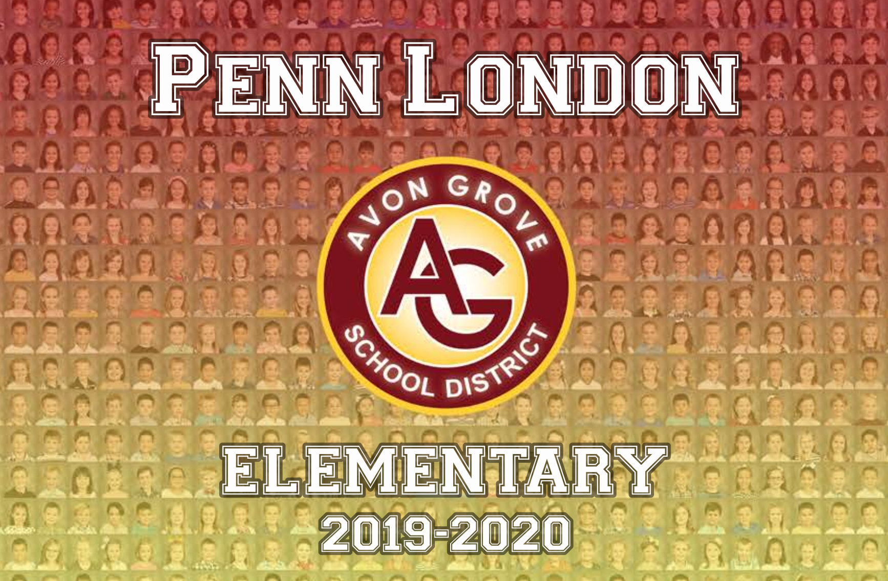 Penn London Elementary 2019-2020 Memory Book Cover